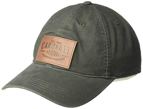 Carhartt Unisex-Adult Rigby Stretch Fit Leatherette Patch Baseball Cap, Peat, L/XL von Carhartt