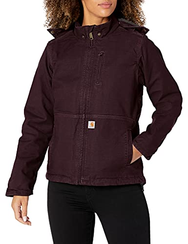 Carhartt Womens Full Swing Caldwell Jackets, Deep Wine/Shadow, L von Carhartt