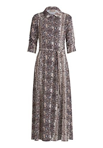 Cartoon Damen 1120/7699 Lässiges Kleid, Grey/Brown, 38 von Unbekannt