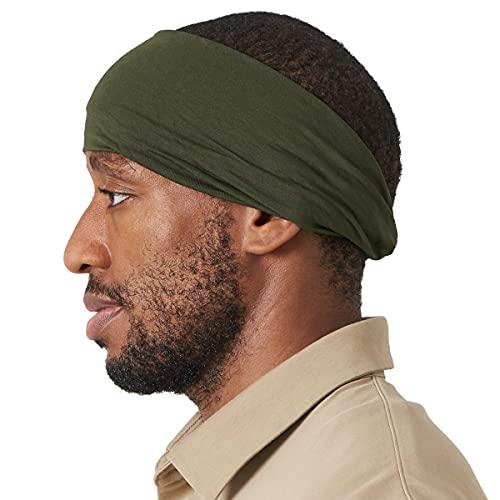 Casualbox Herren Stirnband Haar Band Seidig Textur Muster Verdreht Design