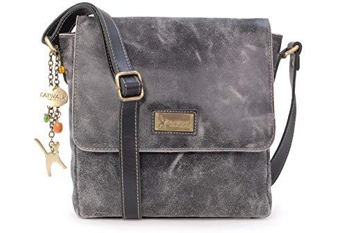 c532dc10cc7ed Catwalk Collection Handbags - Vintage Grobem Leder - CATWALK COLLECTION -  Mittlere Größe - Umhängetasche Messenger