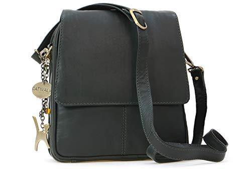 a86ed60bb391d Catwalk Collection Handbags - Leder - Organizer Umhängetasche Schultasche Aktentasche  für Damen -