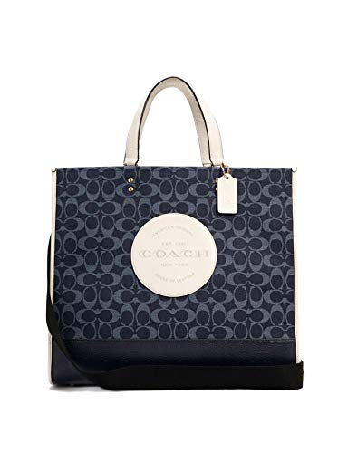 Coach Dempsey Damen Tragetasche 40 in Signature Jacquard mit Patch von Coach