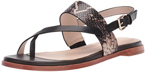 Cole Haan Womens Anica Thong Sandal, Black Multi Snake Print, 5 B US von Cole Haan