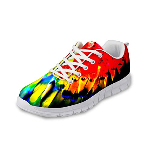 Coloranimal Low Top Running Walking Sneakers Colorful Painting Lace-up Flats for Women Men Spring Autumn Light-Weight Football Flats Casual DailyShoes von Coloranimal