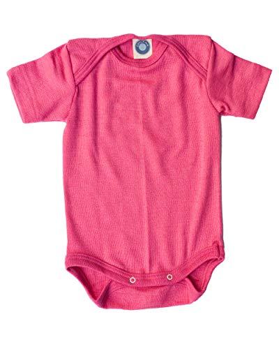 Cosilana Baby Body kurzarm gestreift u uni Wolle  Seide GOTS  Bio Öko