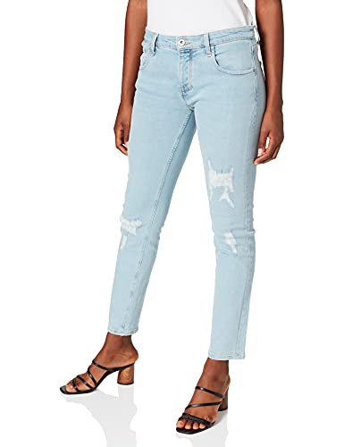 Cross Jeans Damen Gwen Boyfriend Jeans, Blau (Light Blue Destroyed 049), W32 (Herstellergröße: 32) von Cross