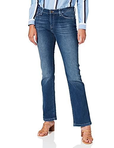 Cross Jeans Damen Lauren Straight Jeans, Blau (Dark Blue Used 009), W27/L34 von Cross