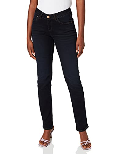 Cross Jeans Damen Straight Leg Jeanshose Rose, Gr. W33/L36 (Herstellergröße: 33), Blau (blue black used 026) von Cross