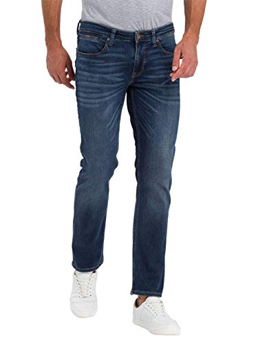 Cross Herren Dylan Tapered Fit Jeans, Blau (Dark Blue 096), W38/L32 von Cross