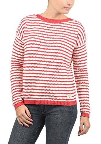 2bd5d8f9534df3 DESIRES Hilde Damen Winter Strickpullover Troyer Grobstrick Pullover,  Größe:XL, Farbe:Tomato