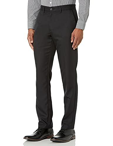 Amazon Essentials Slim-Fit Flat-Front Dress Pants Anzughosen, Black, 34W x 30L von Daily Ritual