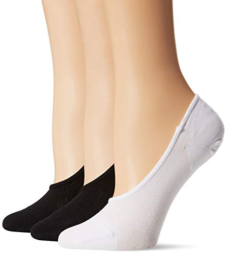 Daily Ritual 3-Pack fashion-liner-socks, Black/White, 6 von Daily Ritual