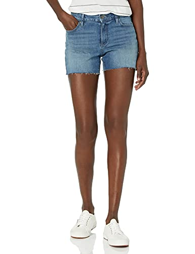 Daily Ritual Denim Cutoff Shorts, Mid-Blue, 28 von Daily Ritual