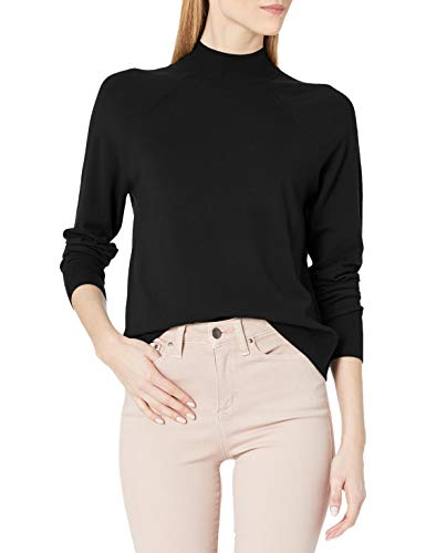 Daily Ritual Fine Gauge Stretch Ribbed Turtleneck Sweater pullover-sweaters, Black, US L (EU L - XL) von Daily Ritual