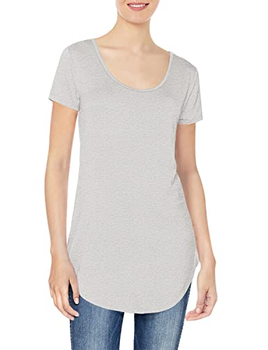 Daily Ritual Jersey Short-Sleeve Scoop-Neck Longline novelty-t-shirts, Light Heather Grey, US S (EU S - M) von Daily Ritual