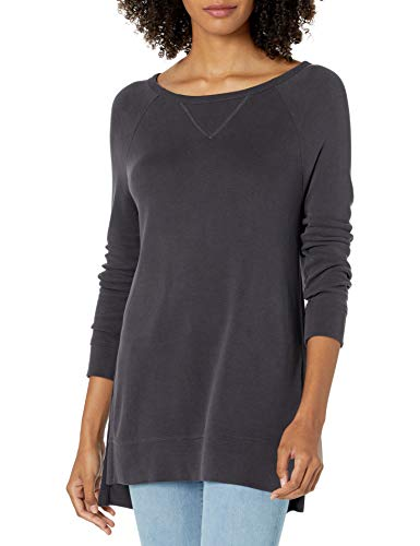 Daily Ritual Sandwashed Modal Blend High-Low Fashion-Sweatshirts, schwarz, US M (EU M - L) von Daily Ritual