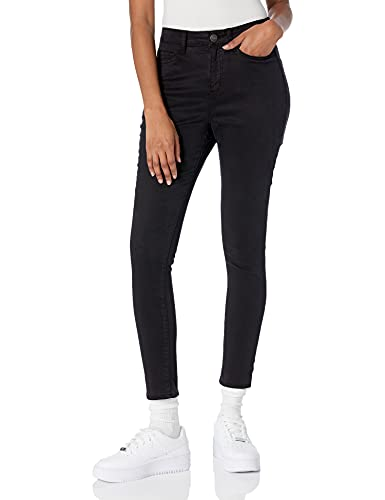 Daily Ritual Sateen High-Rise Skinny Ankle pants, Black, 8 von Daily Ritual