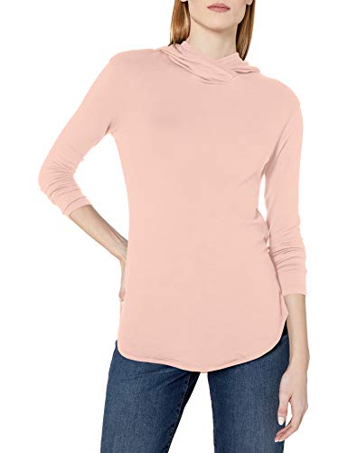 Amazon-Marke: Daily Ritual Supersoft Terry Long-Sleeve Hooded Pullover Hemd, Rose, L von Daily Ritual