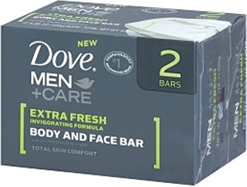 Dove Men Care Extra Fresh Body + Face Bar (2x113g) von Dove