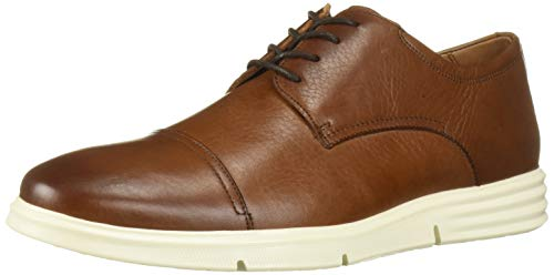 Driver Club USA Herren Leather Columbus Circle Light Weight Technology Cap Toe Oxford Laceup Turnschuh, Cognac Grainy, 41 EU von Driver Club USA