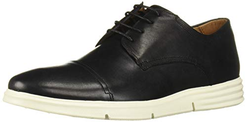 Driver Club USA Herren Leather Columbus Circle Light Weight Technology Cap Toe Oxford Laceup Turnschuh, Schwarzer Nappa, 45 EU von Driver Club USA