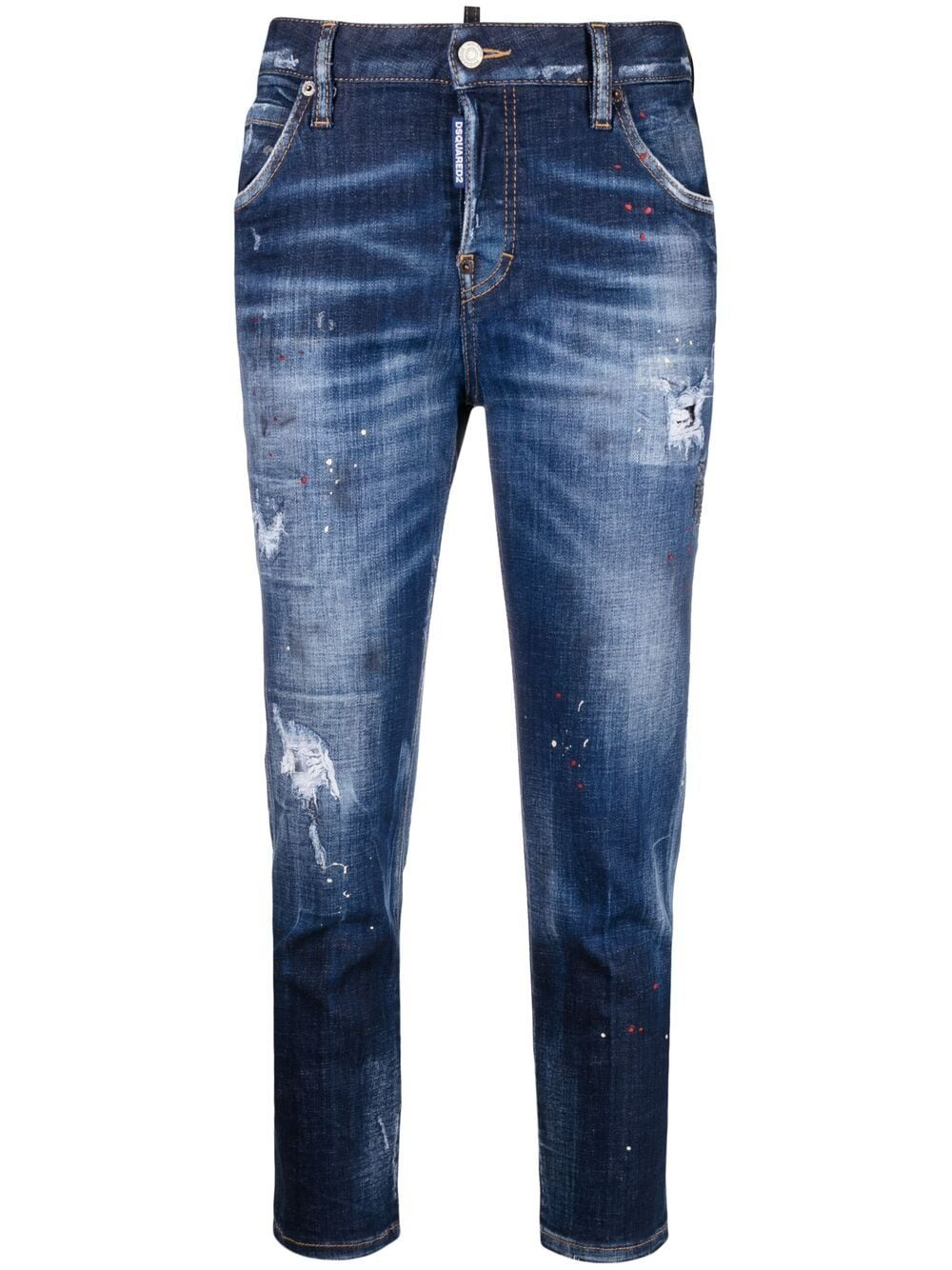 Dsquared2 Cool Girl cropped jeans - Blau von Dsquared2