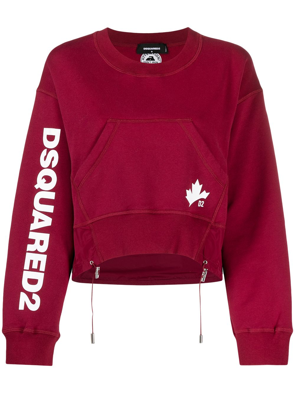 Dsquared2 D2 Leaf Active Sweatshirt - Rot von Dsquared2