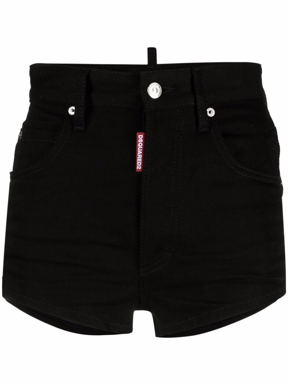 Dsquared2 Icon high-waisted denim shorts - Schwarz von Dsquared2