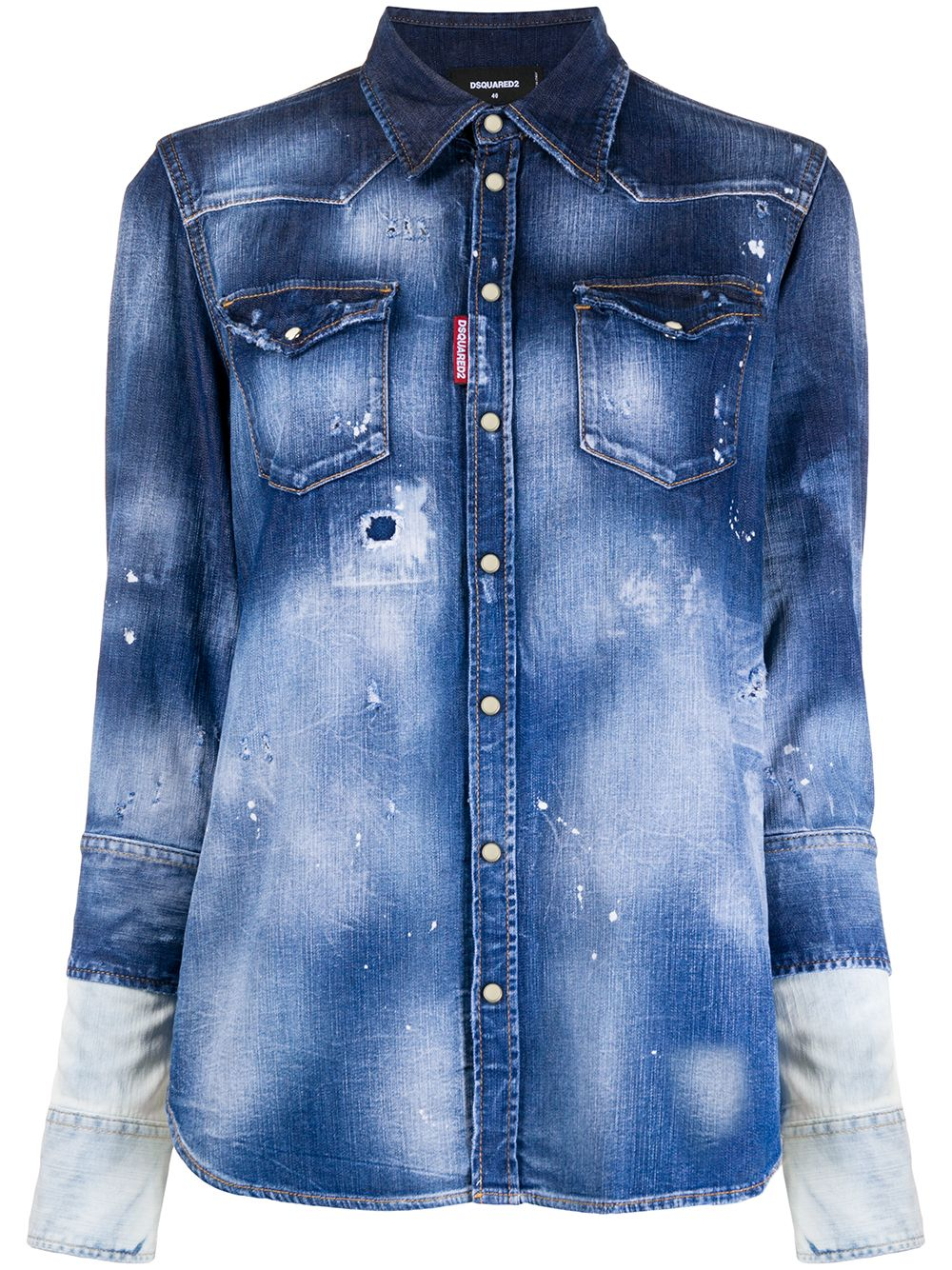 Dsquared2 Jeansjacke im Distressed-Look - Blau von Dsquared2