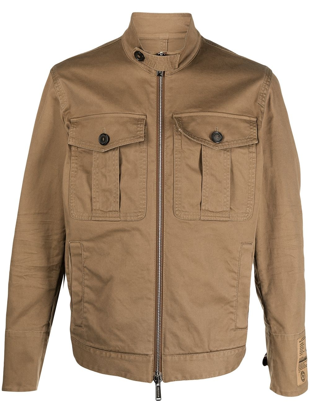 Dsquared2 Military-Jacke mit Logo-Patch - Braun von Dsquared2