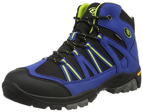 EB kids OHIO HIGH, Jungen Trekking- & Wanderstiefel, Blau (Blau/schwarz/lemon), 29 EU (11 Kinder UK) von Brütting