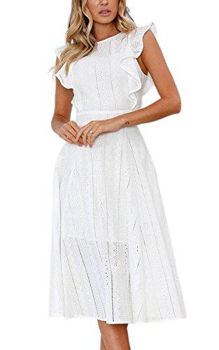Kleider von Ecowish in Weiß für Damen