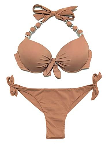 Beach-Bandeau-Bikini Set Brasil-Style Bademode Triangel Bikini Unterteil ZEZKT 2017 Damen Bikini Set