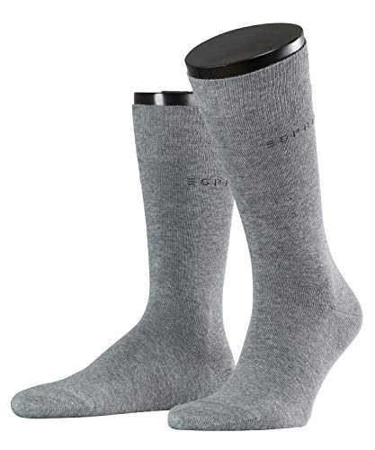 ESPRIT Herren Socken 2 er Pack 17811 Basic uni DP, Gr. 47-50, Grau (light grey 3390) von ESPRIT