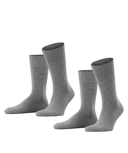 ESPRIT Herren Socken Basic Easy Doppelpack SO, Gr. 47/50, Grau (light grey meliert 3390) von ESPRIT