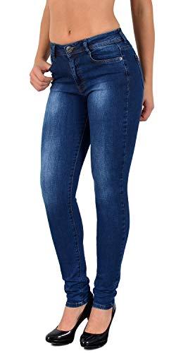 649cff02cdbb14 ESRA Damen Jeans Hose Straight Fit Jeans Röhren Jeanshose Slim Fit Jeans  große Größen S800 von