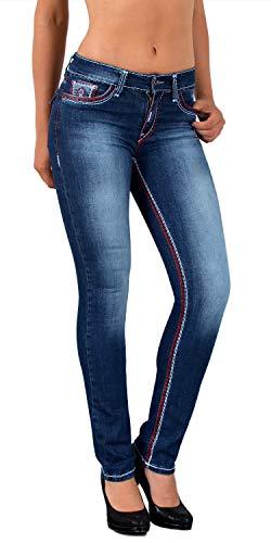 cfdbf8c204af0f ESRA Damen Jeans Hose Straight Leg Damen Jeanshose Dicke Naht viele Farben  bis Übergröße J540 von