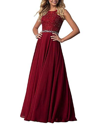 EVANKOU Damen Chiffon Spitze Abendkleider Elegant Brautkleid Lang Festkleid Ballkleid P29
