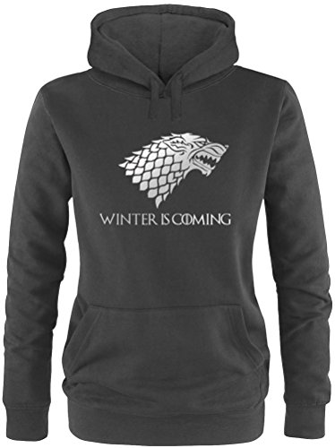 EZYshirt® Game of Thrones | Winter is coming | Schattenwolf Damen Hoodie von EZYshirt