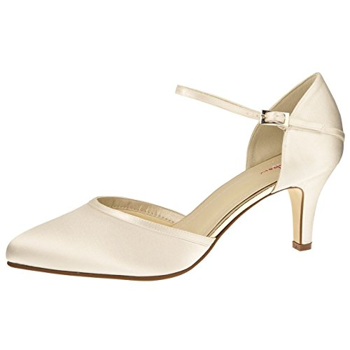 Brautschuhe Rainbow 7 Club Bliss Ivory Dewi Satin 6UwSqBUx