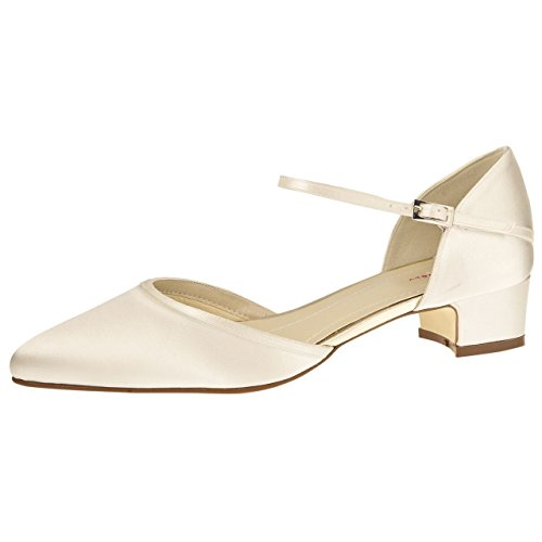 3 Bliss Ivory Club Brautschuhe Satin Rainbow Piper nzPa0