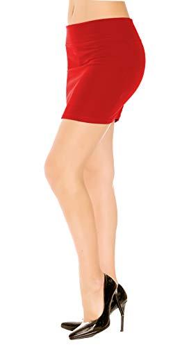 6328ebdf8ebeb7 Emma & Giovanni - Basic Mini Rock (Made In Italy) - Damen (Rot