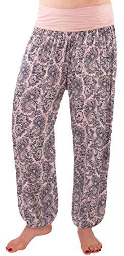 a87976ed8f1c FASHION YOU WANT Damen Sommerhose Pumphose Haremshose mit Blumenmuster  Flower Größe 34 36 bis Größe