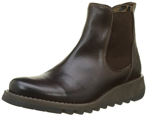 London 42 FLY Chelsea Salv Damen UK Boots 9 Braun Damen Darkbrown 001 EU AddqnCSHa