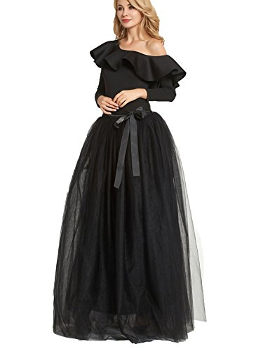 FOLOBE Women's 1950 Vintage Puffy Tutu Skirts Bridesmaid 6 Layers Petticoat Slip von FOLOBE