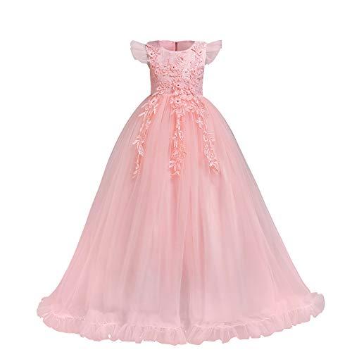 farblich passend ausgewähltes Material moderner Stil Lange Kleider in Rosa von FYMNSI für Mädchen.