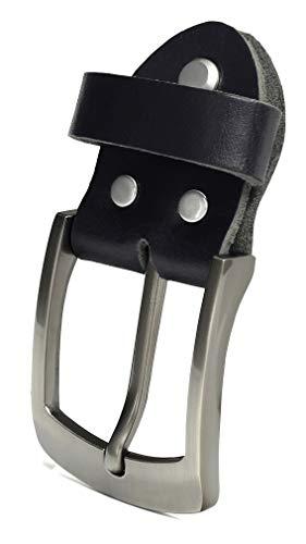 b03aeb19d916f3 Fa.Volmer ® Einzelne Gürtelschnalle als Ersatz für schwarzen Ledergürtel  3,8 cm Typ