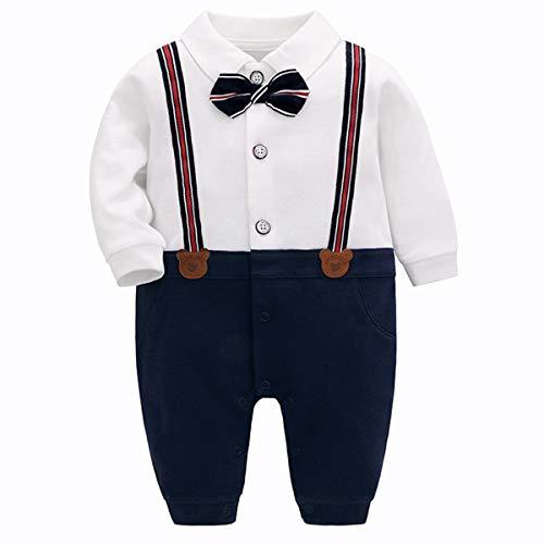 Famuka Baby Junge Smoking Taufe Hochzeit Babykleidung Neugeborenen Strampler