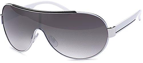 rahmenlose Sonnenbrille mit Monoscheibe Sonnenbrille mit durchgehender Scheibe Brillenbeutel